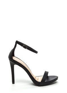 Single Strap Life Faux Leather Heels BLACK Black Leather Heels, Black Heels, Stuart Weitzman, Sandals, My Style, Shoes, Life, Fashion, Shoes Sandals