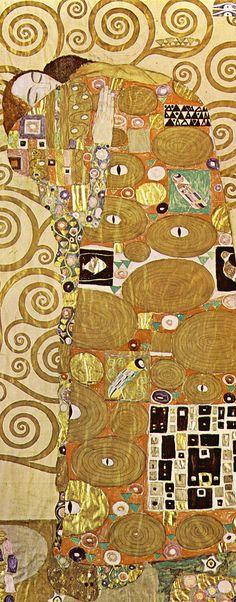 Gustav Klimt 'Fulfillment' detail