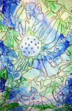 glue watercolor flowers