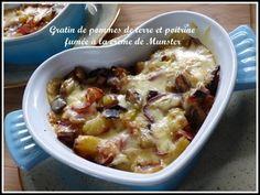 Gratin de pommes de terre et poitrine fumée à la crème de Munster
