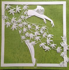 Original paper cut dancing with the wind by DESIGNPAPER on Etsy