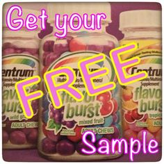 Get Your FREE SAMPLE of Centrum Flavor Burst Vitamins ~ they are yummy and taste like candy - I love these!