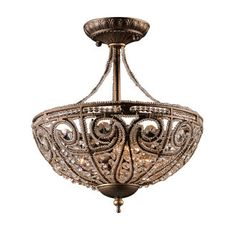 View the Elk Lighting 5964/3 Crystal Semi-Flush Ceiling Fixture from the Elizabethan Collection at Build.com.