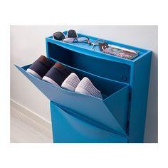 TRONES Armoire à chaussures/rangement - bleu - IKEA