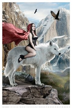 One girl calendar 2011 by Mina Sarenac Fantasy Wolf, Fantasy Art Women, Dark Fantasy Art, Wolf Mates, Red Riding Hood Wolf, Hearly Quinn, Wolves And Women, Native American Girls, Wolf Painting