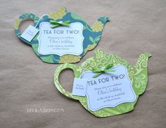 Tea Party Invitations Bridal Shower Birthday Baby by DelilahIris, $2.95