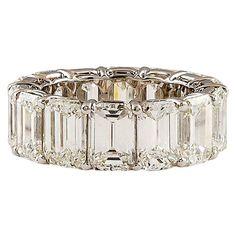 HARRY WINSTON Extraordinary Emerald Cut Diamond Ring   WefollowPics