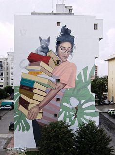New street art mural perspective Ideas Urban Street Art, 3d Street Art, Amazing Street Art, Street Artists, Urban Art, Graffiti Artists, Street Art Banksy, Sidewalk Chalk Art, 3d Artwork