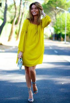 Excelentes vestidos de moda color amarillo   Moda 2016