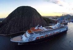 O transatlântico MS Maasdam atracou no porto de Vitória nesta quarta-feira (3), às 8 horas, trazendo 1.050 passageiros provenientes da Califórnia, nos Estados Unidos.
