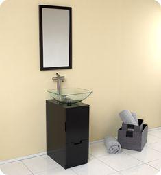 """Fresca Brilliante 17"""" Espresso Modern Bathroom Vanity"""