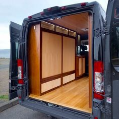 Such a beautiful and organized DIY van build! I love the way they built out the bed, you could fit so much stuff in the interior of this van!