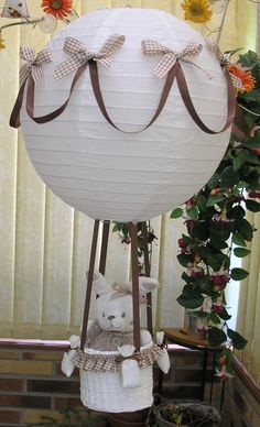 Voyage en ballon d'un petit lapin