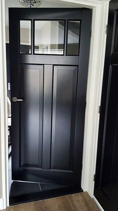 A look inside Selina - De Wemelaer - Lilly is Love Black Interior Doors, Black Doors, House Doors, Interior Design Living Room, Tall Cabinet Storage, Barndominium, New Homes, House Styles, Furniture Storage