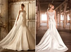 """Another convertible lace gown -Removable top lace bodice reveals a """"second"""" gown!"""
