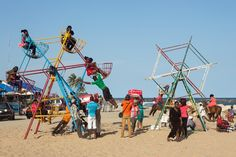 The Nigerian middle class is enjoying a day off at the Elegushi beach in Lekki, Lagos, Nigeria