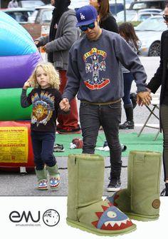 $74.95 Emu kids shoes:Pete Wentz & Meagan Camper Take Bronx To The Farmers Market