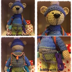 Teddies with love Crochet Teddy, Crochet Toys, Amigurumi Toys, Hats, Pictures, Inspiration, Photos, Biblical Inspiration, Hat