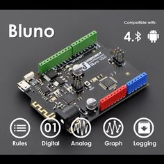 Bluno - Arduino Uno combined with Bluetooth 4.0 BLE + Android IO Control!