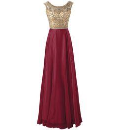 Amazon.com: Changjie Women's Long Scallop Bead Chiffon Prom Dresses Formal Evening Gown CJ67: Clothing