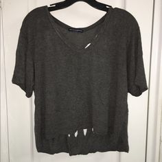 Skull cut out shirt Super edgy cut out skull crop top. Great way to show your dark side Brandy Melville Tops Crop Tops