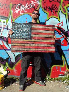 USA FLAG PAINTING - Graffiti Style! by Garrett Weider - Scope my online store! http://www.etsy.com/shop/garrettweider