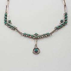 Antique Zuni Turquoise Necklace $385