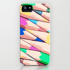 Color pencils iPhone Case by Pedro Nogueira - $35.00