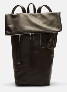 Rick Owens Large Leather Duffle Bag in Black Rick Owens Men, Leather Duffle Bag, Thick Leather, Leather Backpacks, Mens Fashion, Silver, Bags, Grey, Leather School Bag