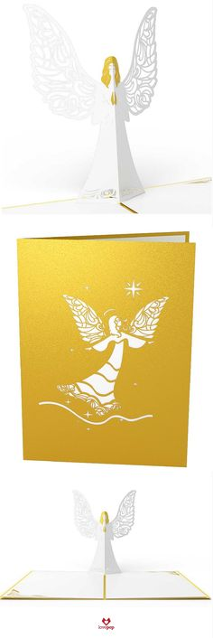 Say Happy Holidays with a pop up Angel card. Send something different this year as your Christmas Cards.