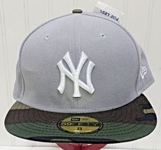 2e615138f50 NWT New Era 59Fifty New York YANKEES Hat Grey Camo Camouflage NY Cap XXXL 8  MLB