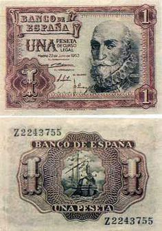 SPAIN 1 Peseta 1953 World Banknotes Online Best Banknotes Online shop, Spain rare banknotes online World Coins, Pink Floyd, Nostalgia, History, Retro, Typography, Lettering, Murcia, Stamps