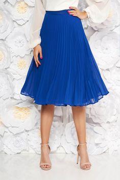 StarShinerS blue elegant cloche skirt with medium waist voile fabric folded up, inside lining, voile fabric, folded up, side zip fastening Product Label, Folded Up, Suits You, Body Measurements, Size Clothing, Best Sellers, Curvy, Elegant, Medium