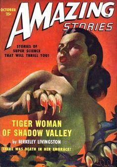 #pulp cover amazing stories #scifi art- harold mc cauley