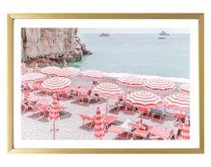 Italy Wall Art // Positano // Travel Wall Art // Living Room Decor // Italy Print // Italian Decor // Beach Photography // Umbrella Print