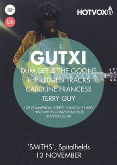 Hot Vox brings Gutxi, Pontrique, The Hidden Tracks, Caroline Francess & Terry Guy to 'SMITHS' Bar