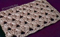 In this pattern there are only two repeating rows, and I really, really love it, because such patterns can be crochet with two colors yarn. Crochet Afghans, Crochet Stitches, Knit Crochet, Crochet Hats, All Free Crochet, Learn To Crochet, Crochet Ideas, Crochet Cluster Stitch, Afghan Crochet Patterns