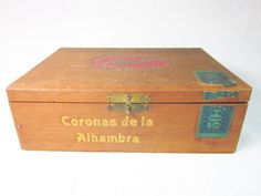 Wooden Alhambra Coronas Cigar Box by PanopolyAntiques on Etsy