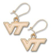 Virginia Tech University 3/8 Inch Logo Dangle Earrings