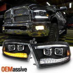 Dodge Ram 1500 Accessories, Ram Accessories, Ford Pickup Trucks, Ram Trucks, Dodge Trucks, Hidden Projector, Best Ram, Black Headlights, Bar Led
