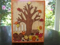 Autumn Leaves are Falling Card with Cricut Cartridge Recipe