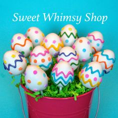 Easter Eggs CakePops~                   for Easter basket by SweetWhimsyShop, pastel
