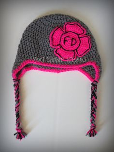 Firefighter/ Fire Department Crochet Earflap Hat by AndreaDanielle, $25.00