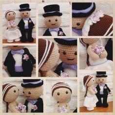 #haken, gratis patroon, Nederlands, amigurumi, pop, Bruidspaar, huwelijk, bruiloft, knuffel, decoratie, jubileum, bruid, bruidegom, #haakpatroon