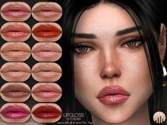 LipGloss by busra-tr - The Sims 4 My Sims, Sims Cc, Virgo, Sims 4 Cc Makeup, Mod Makeup, Makeup Lipstick, Ariana Grande Makeup, Sims 4 Cc Folder, The Sims 4 Skin