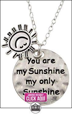 "Plata tono ""you are my sunshine mi única Sunshine 'encanto Collar Moda Joyería Regalo  ✿ Joyas para niños - Regalos ✿ ▬► Ver oferta: https://comprar.io/goto/B00Q1LA1BA"