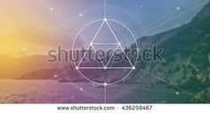 Sacred geometry web banner. Math, nature, and spirituality in nature. The formula of nature. There is no beginning and no end of the Universe, and no beginning and no end of the Life and the Bliss.