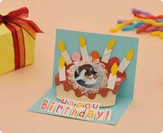 誕生日カード完成写真