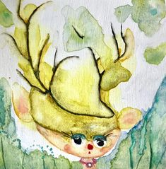 ❤️ Bettina Greslehner - Das kleine Reh ❤️ #kunst #künstler Kunst Online, Painting, Deer, Fantasy, Wall Prints, Artworks, Monochrome, Art Print, Printing