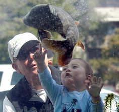 You can never be too young to learn about healthy ecosystems... photo of our mobile fish exhibit via Mercury News/BANG papers.